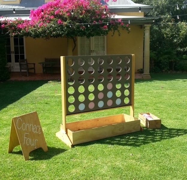 Giant Connect Four available to hire for weddings and events in Adelaide, South Australia