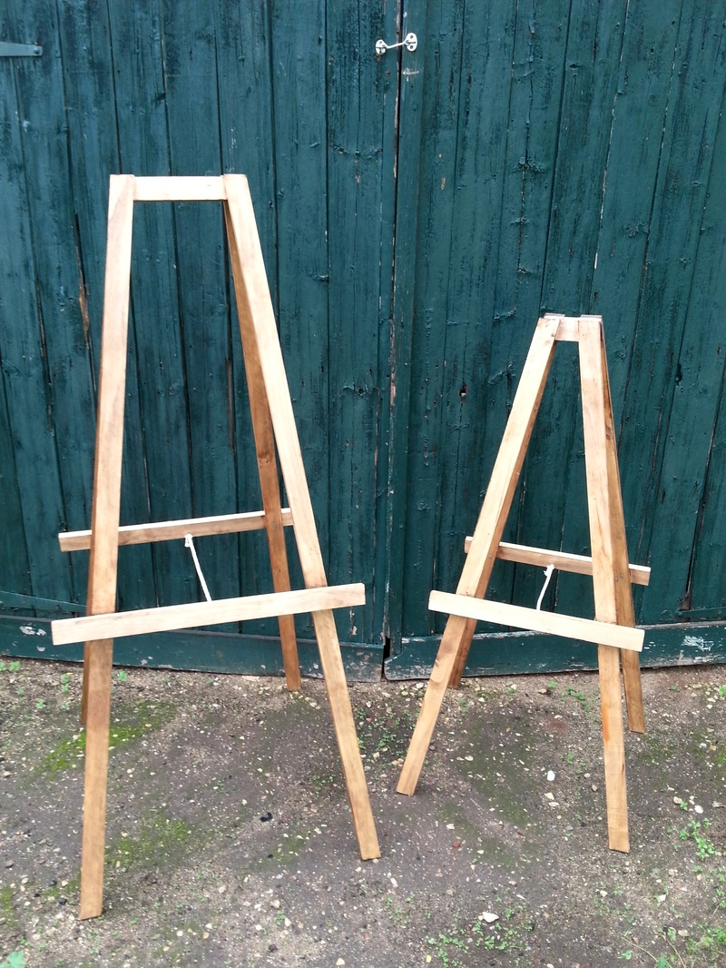 Timber Easels to hire for weddings and events in Adelaide and the Barossa
