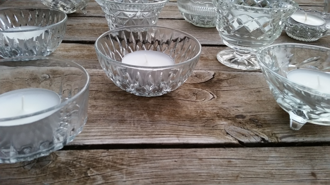 Vintage Glass Tealight Holders