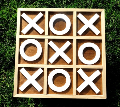 Handcrafted Noughts & Crosses Set