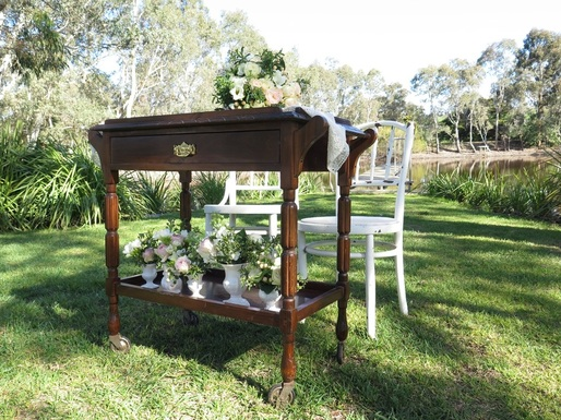 Vintage Bar Cart for hire in Adelaide