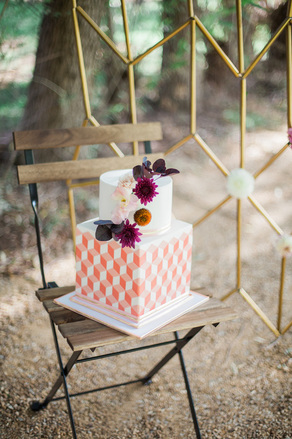 Autumn inspired geometric cake