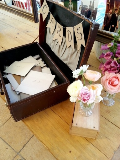 Vintage Cards Suitcase to hire for weddings and events in Adelaide and Barossa SA