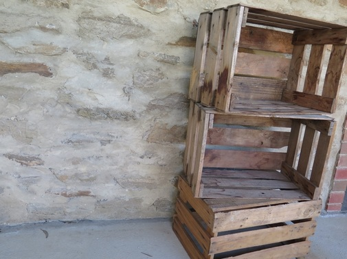 Vintage wooden crates for hire in Adelaide SA