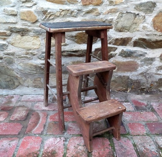Small Rustic Step Ladder