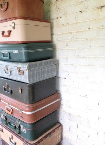 Vintage Suitcases Stack