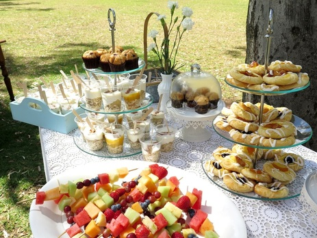 3-tier glass cupcake stand available to hire for weddings and events in Adelaide and Barossa, SA