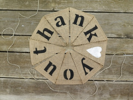 Hessian Thank You Bunting