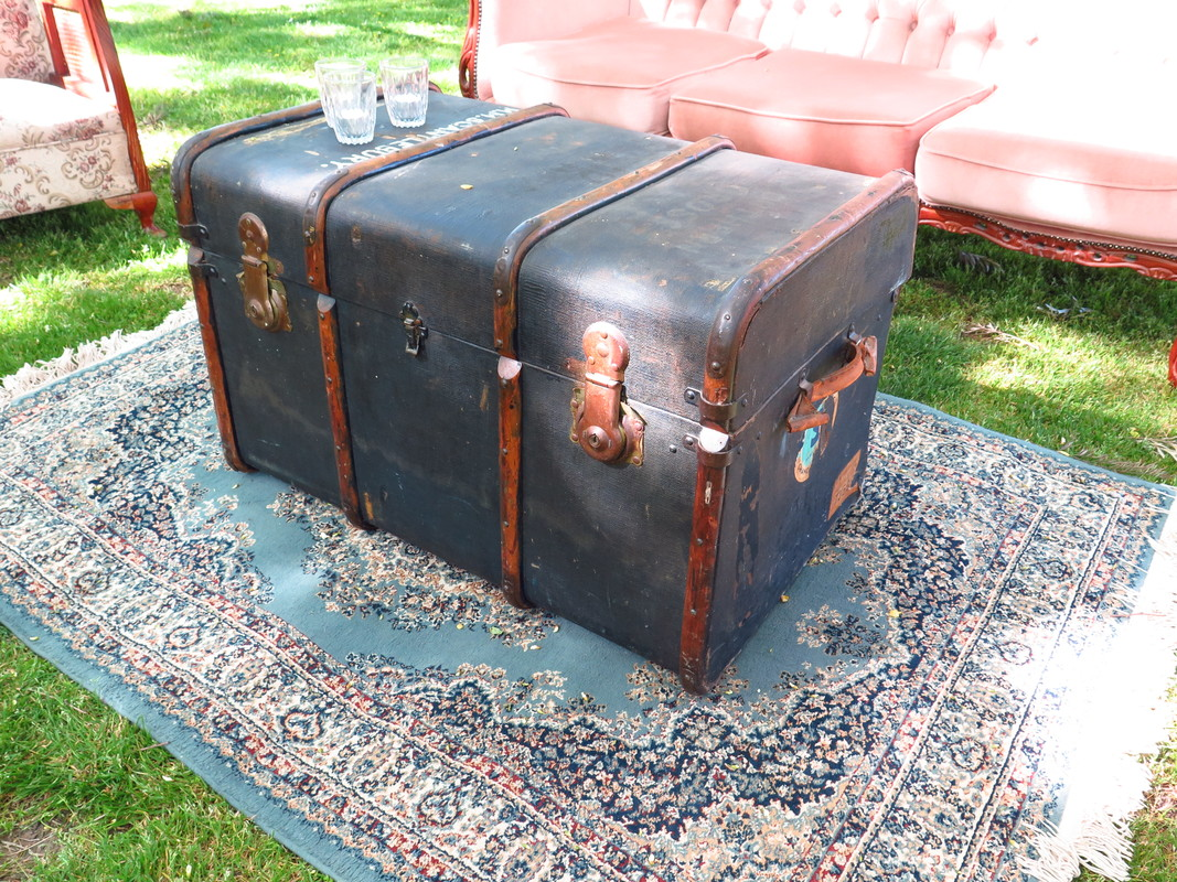 Large vintage trunk for hire for weddings and events in Adelaide SA