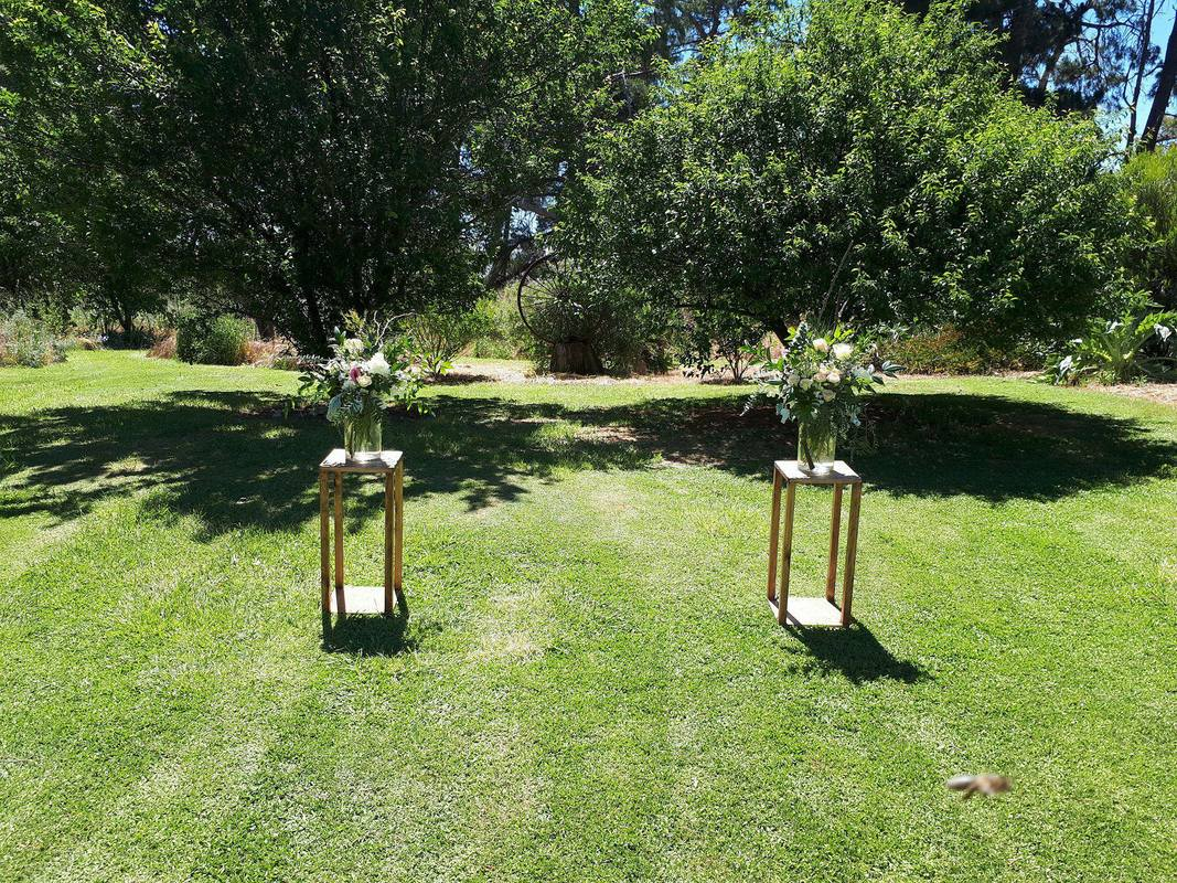 Steel pot stands available to hire for events and weddings in Adelaide and Barossa SA